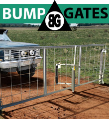 Bump Gates are simple low cost security for farms and small holdings.