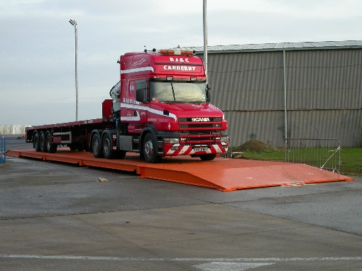 photo of a commercial truck on a weighbridge in South Africa