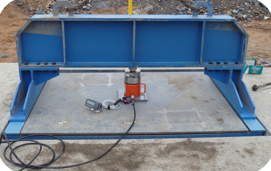 load cell of a weighbridge
